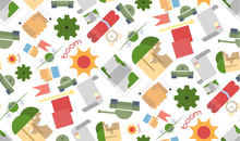 Funny Seamless Pattern Military