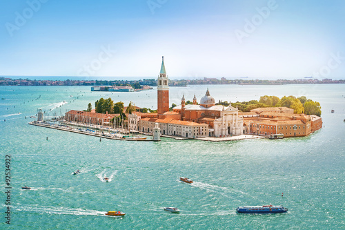 Recess Fitting Venice Panoramic aerial view at San Giorgio Maggiore island, Venice, Veneto, Italy