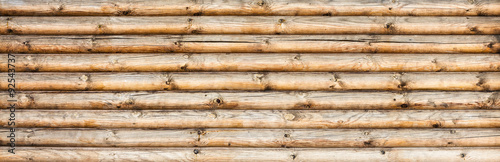 Photographie  wooden logs wall texture background