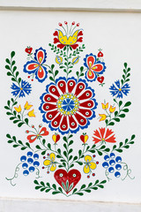 Detail of old colourful ornaments