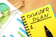 Notepad With Disaster Plan On ...