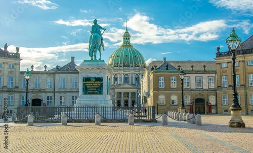 Foto auf Leinwand Schloss Amalienborg in Copenhagen, Denmark