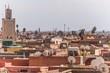 view over marrakechs medina
