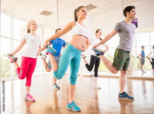 Fototapeten Tanzschule Dancing people