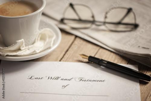 Cuadros en Lienzo  Last will and testament