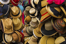 Hat Display In Local Market