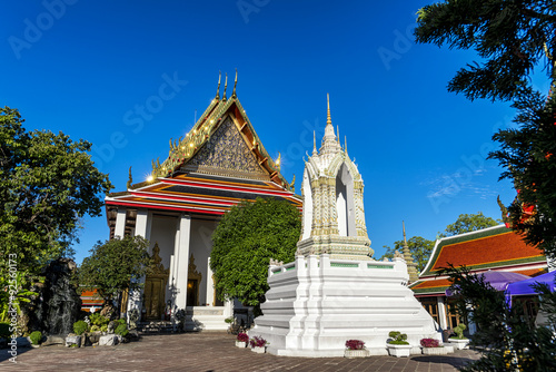 Wat pho is the beautiful temple in Bangkok, Thailand. Poster