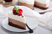 Three Chocolate Mousse Cake