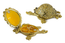 Turtle - Metal  Box For Jewelry