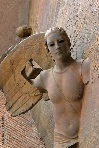 Fotografie, Obraz  Detail brána baziliky Santa Maria degli Angeli