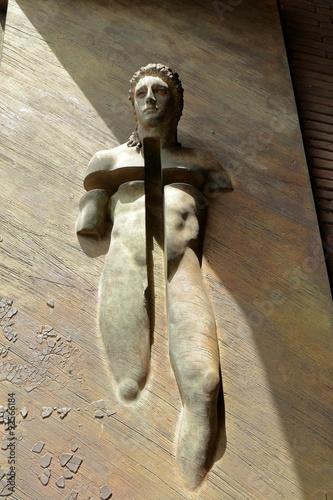 Valokuva  Detail of gate basilica Santa Maria degli Angeli e dei Martiri