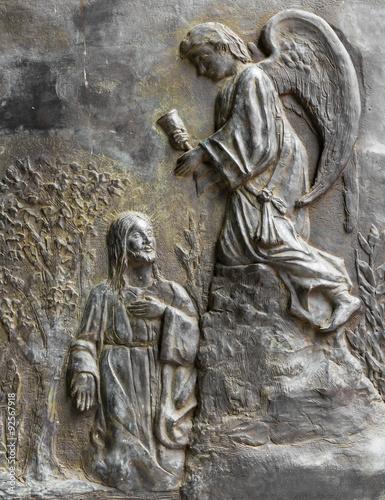 Obraz na płótnie Christ and an angel