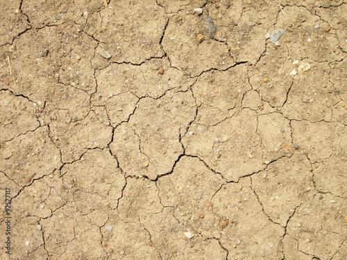 Foto  cracks in the ground