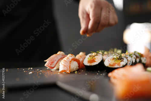 Printed kitchen splashbacks Sushi bar Kuchnia japońska, sushi