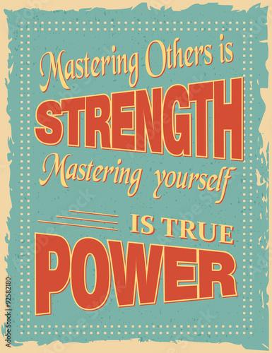 Obraz na plátně  Vintage Motivační Citace Plakát
