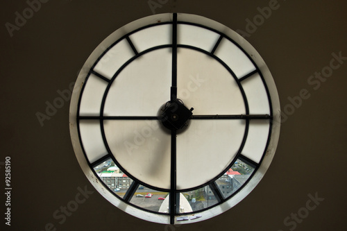 Fényképezés Detail inside clock of Hallgrimskirkja, Reykjavik cathedral