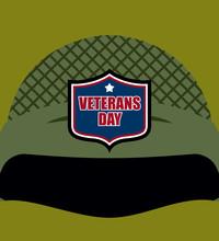 Patriot Day. Emblem On  Soldiers Helmet. Military Helmet. Tradit