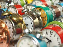 Group Of Colorful Old Alarm Cl...