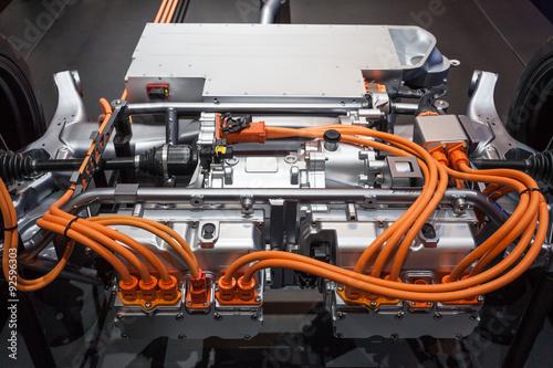 Modern hybrid transmission Fototapete