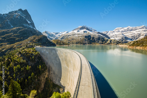 Photo sur Aluminium Barrage Barrage d'Émosson Suisse