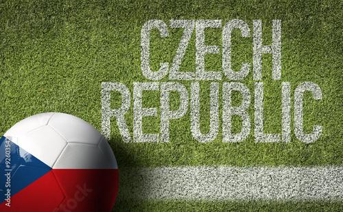 Photo  Czech Republic Ball in a Soccer field