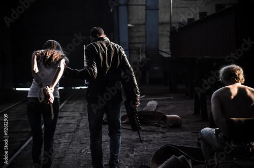 Fototapeta  Kidnapped couple.