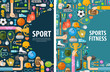 sport vector logo design template. gymnastics or fitness icons