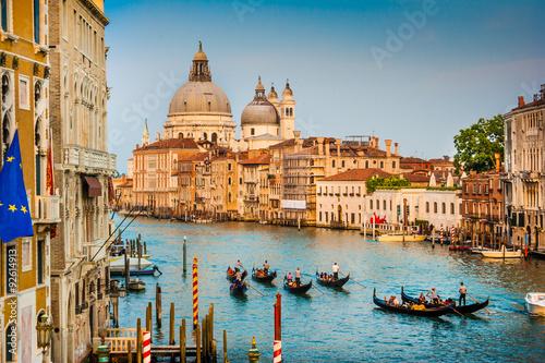 Fotografia  Canal Grande with Santa Maria Della Salute at sunset, Venice, Italy