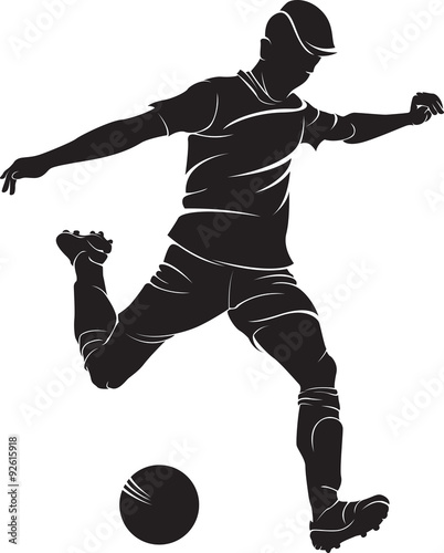 Photo  Football (soccer) player with ball