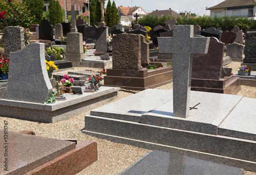 Tuinposter Begraafplaats CIMETIÈRE