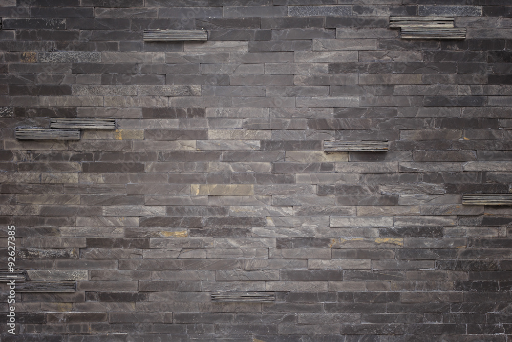 Black slate wall texture and background