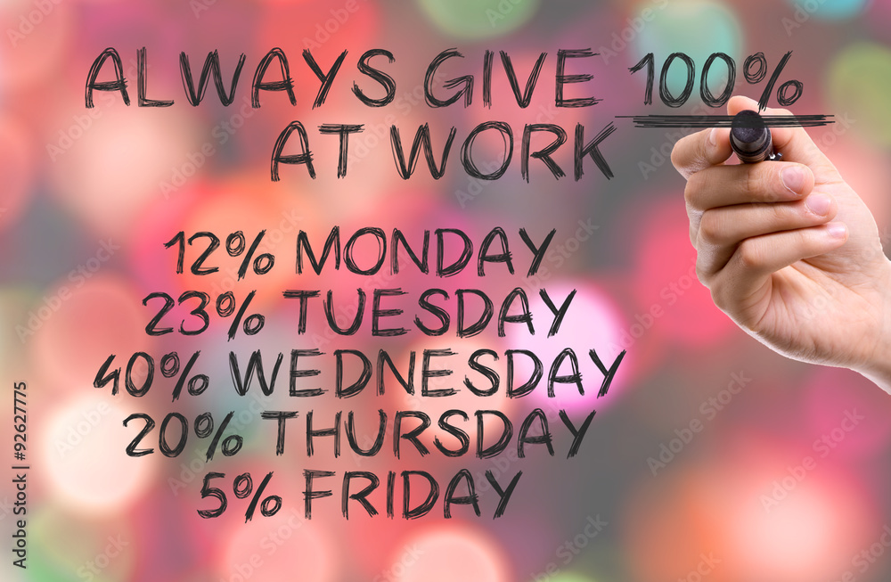 Hand with marker writing: Funny Quote About Work Foto, Poster ...
