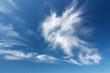 canvas print picture - Federwolken am blauen Himmel