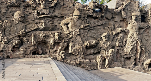"Fotografia  Volgograd, Mamayev Kurgan, walls ruins. Memorial ensemble to ""He"