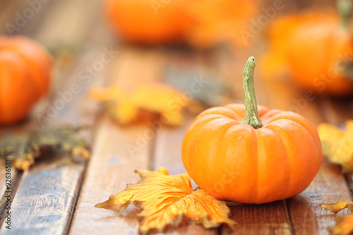 Valokuva  Autumn pumpkin background
