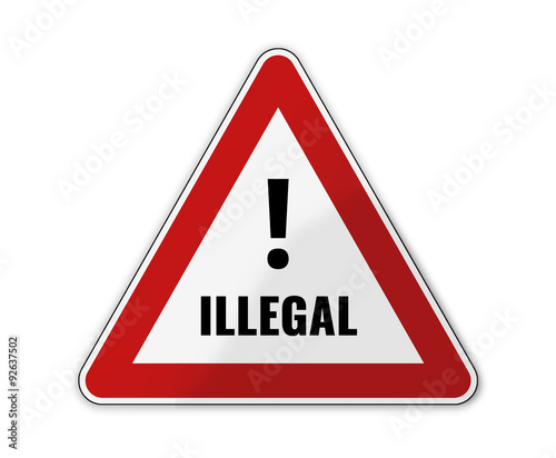 Photo german language for illegally