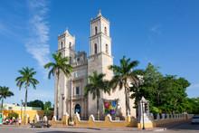 Cathedral Of San Ildefonso Merida Capital Of Yucatan Mexico