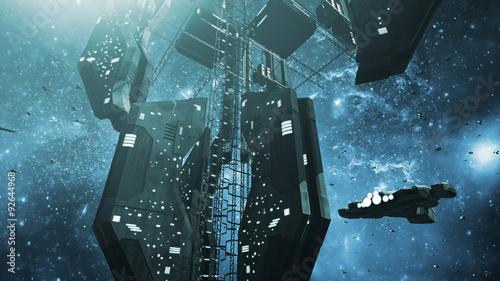 Платно Impressive space station