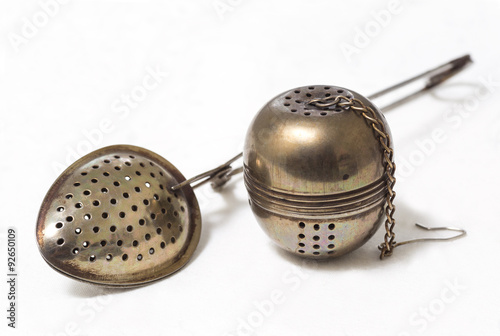 Valokuva  spoon, strainer for brewing tea