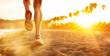 Leinwandbild Motiv Running at the Beach