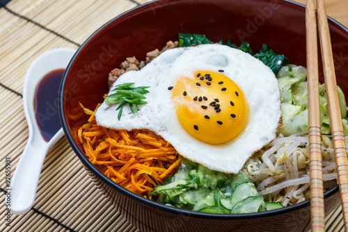 bibimbap, korean dish closeup Canvas-taulu