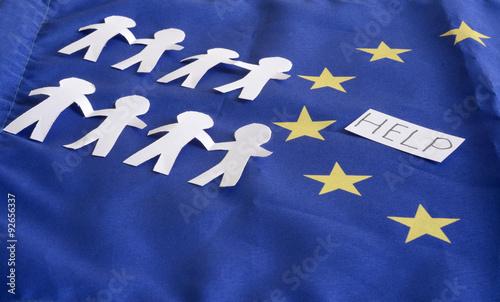 Wall Murals Northern Europe European Union, EU, emigrants, help