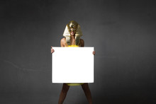 Pharaoh Woman With White Empty Board