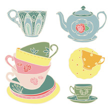 Vector Set With Teapots And Te...