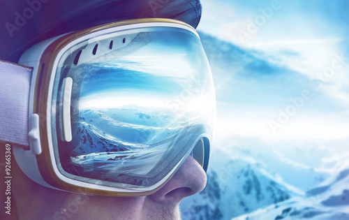 Deurstickers Wintersporten Winter Sports Enthusiast