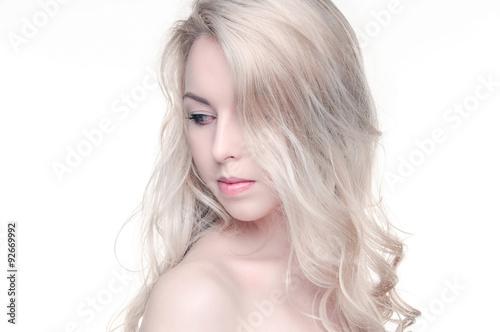 Foto op Canvas womenART Fashion portrait of beautiful sexy blonde