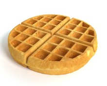 3d Illustration Of A Waffle