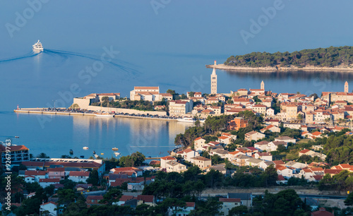 Spoed Foto op Canvas Palermo View of the town of Rab, Croatian tourist resort.