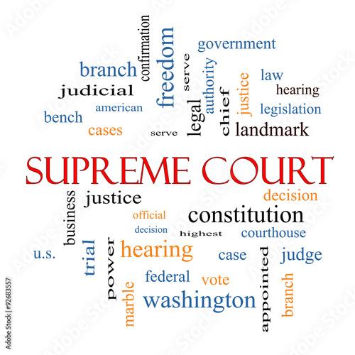 Supreme Court Word Cloud Concept Poster