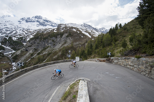 Photo Stands Cycling downhill road cycling pursiut